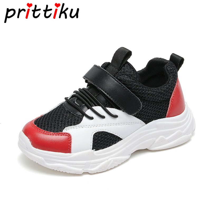 2018 Toddler Boy Girl Mesh Slip On Breathable Sneakers Little Kid Fashion Sport Trainers Big Children School Casual Summer Shoes