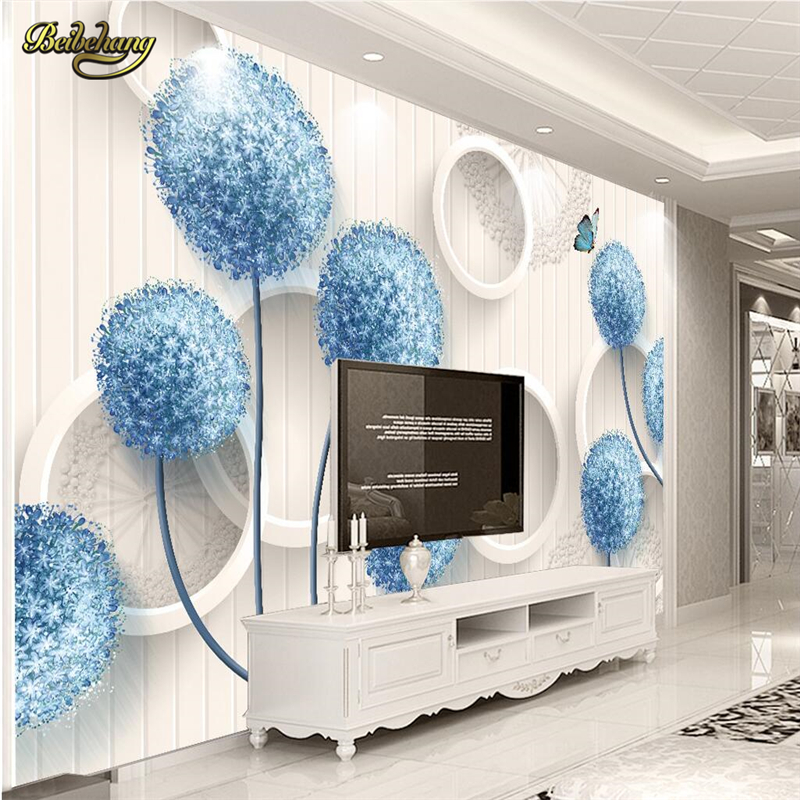 beibehang Dandelion circle papel de parede 3d photo mural wallpaper for walls 3 d Home Decoration wall paper for living room крис де бург chris de burgh far beyond these castle walls