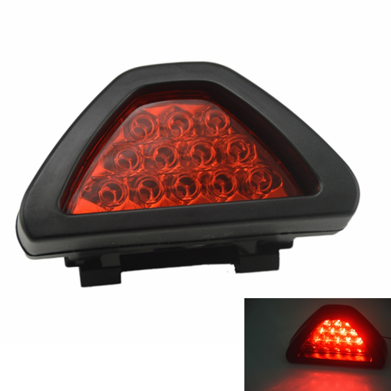 Universal F1 Style DRL Red 12LED Rear Tail Stop Fog Brake Light Lamp Car Motor External Lights free shipping