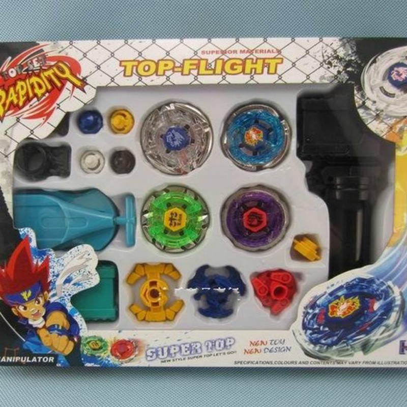 New Metal Master Fusion Top Rapidity Fight Rare Beyblade 4D Launcher Grip Set Gift Children Toys