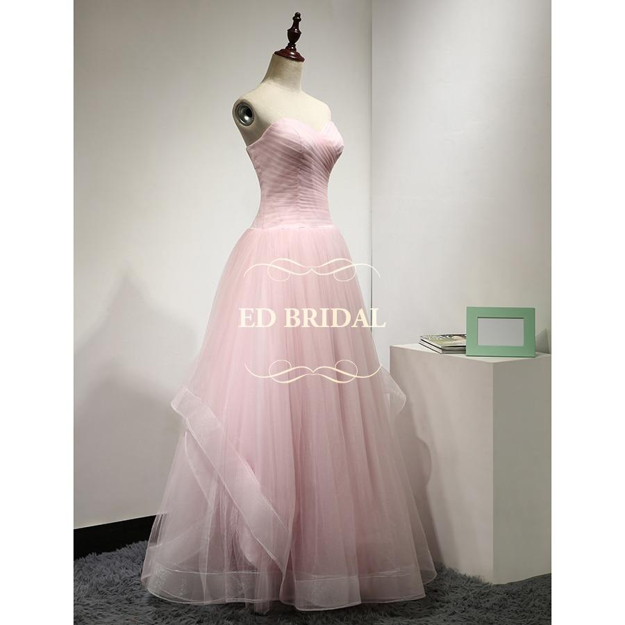 Rosa Prinzessin Hochzeit Kleid Eine Linie Schatz Bodenlangen Tüll ...