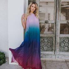 Beach Dresses Women 2019 Plus Size Boho Dress Long Pareos Summer Chiffon Tunics Ladies Loose Saida De Praia Feminino Frock