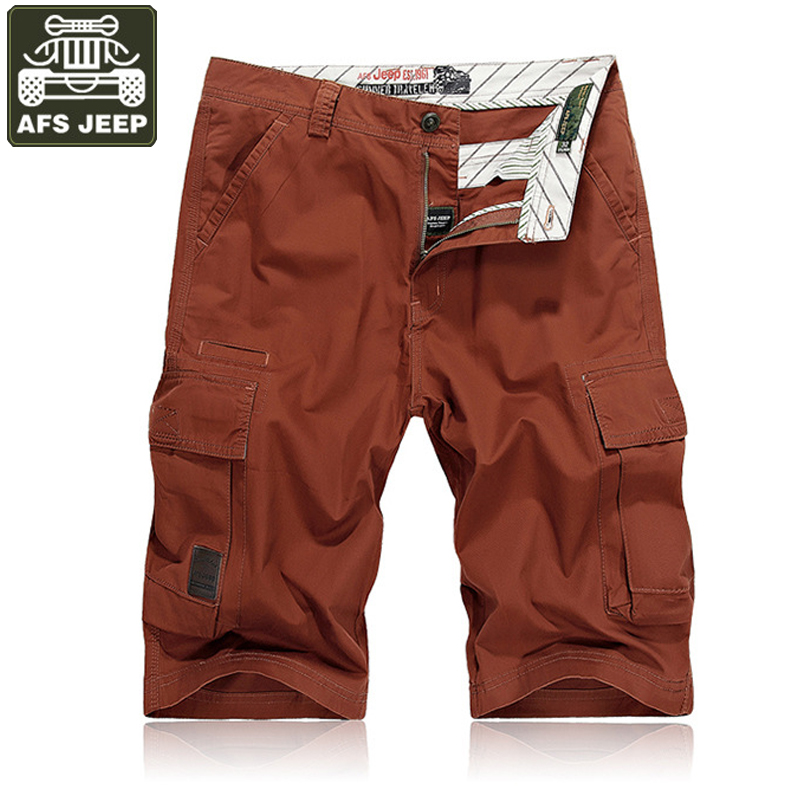 AFS JEEP Casual Cargo   Shorts   Men   Shorts   Homme Summer Mens   Shorts   Plus Size 30-44 Boardshorts Bermuda Masculina   Short   Masculino
