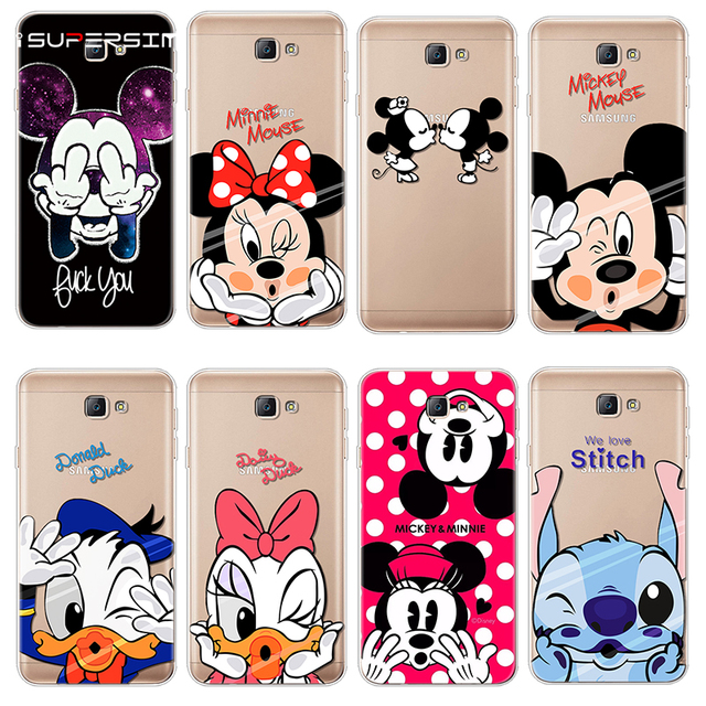 d789173c9b3 Soft TPU For Coque Samsung Galaxy J7 Prime Case Silicone Cover Minnie  Mickey For Samsung J7