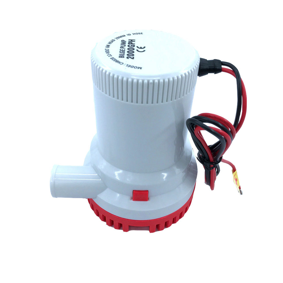Bilge Submersible Water Pump 12V 24V 2000GPH Micro Marine Boat Seaplane Motor Homes Houseboat Aquario Filter Accessories  free shipping 1100gph 12v high flow submersible used water in boat seaplane motor homes houseboat