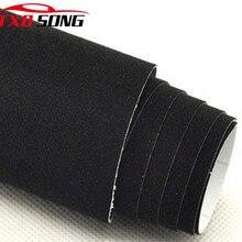 Film de enveloppe en velours noir pour voiture, autocollant, Film velours noir, qualité supérieure, avec bulles 10/20/30/40/50/60x13 5 cm/lot