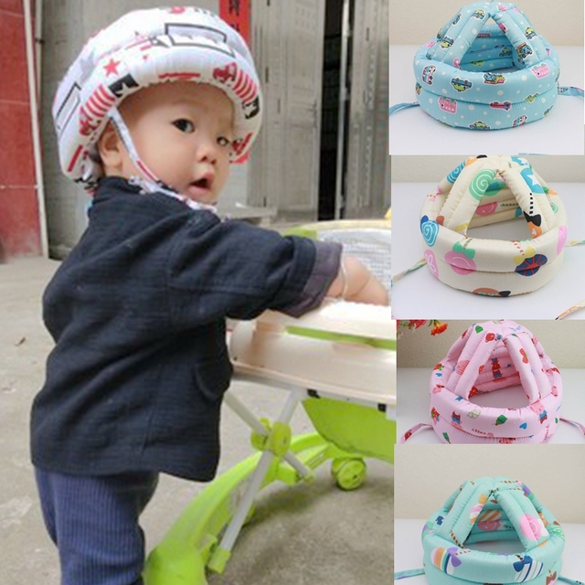 Adjustable Kid Head Protection Pad Baby Anti-collision Protective Hat Baby Walk Sit Safety Helmet Infant Anti-Bump Cap Protector