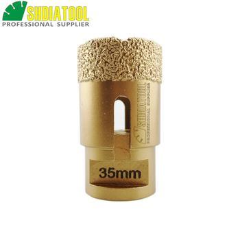 цена на SHDIATOOL 1pc Dia 35mm M14 Vacuum Brazed Diamond Drilling Core Bits Drilling Bits Tile Granite Marble Hole Saw Diamond Drill Bit