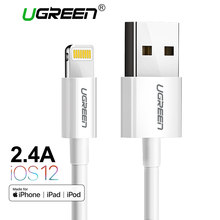 Ugreen MFi Lightning to USB Cable for iPhone Xs Max 8 7 6 Plus Fast Charging Data Lightning Cable for iPhone 5s USB Charger Cord(China)