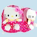 2017 Novo saco de escola bonito olá kitty mochila de pelúcia brinquedos e hobbies bonecas destacável saco de crianças de pelúcia mochila criança mochila de pelúcia