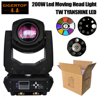 Gigertop TP L660 200W Led Moving Head Light DMX512/SOUND/AUTO/Master slave Control 6/18 Channels 3 Facet/6 Facet Lens Zoom Focus