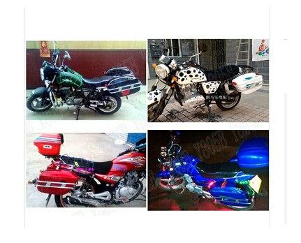 Motorcycle Hard Saddlebag Trunk Bag Luggage Tail Light Chrome Rail