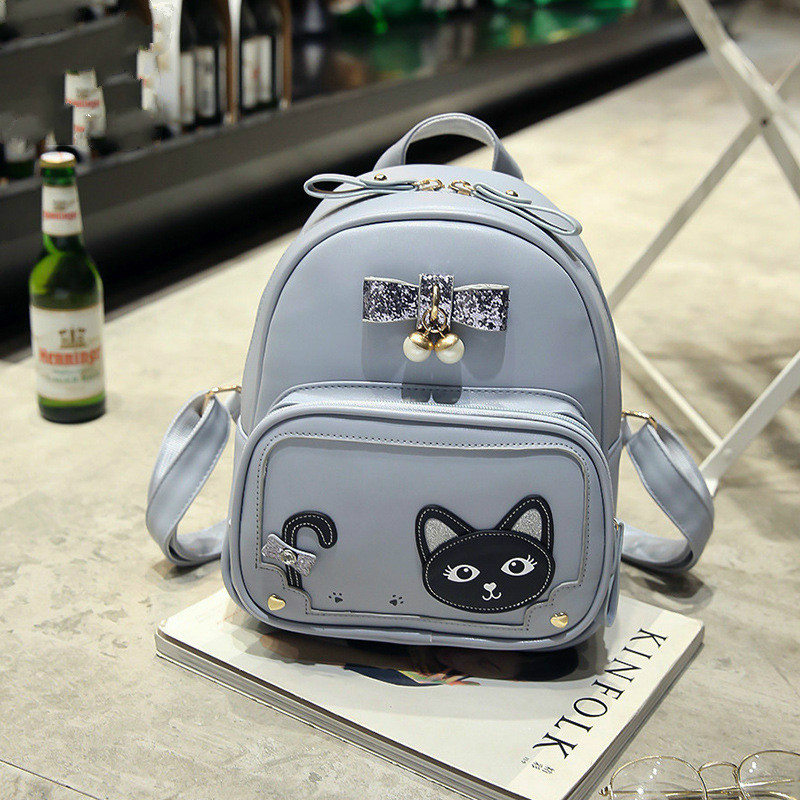 fashion women small backpack vintage cats backpack casual ladies mini backpack school bags teenagers girls mochilas mujer 2017