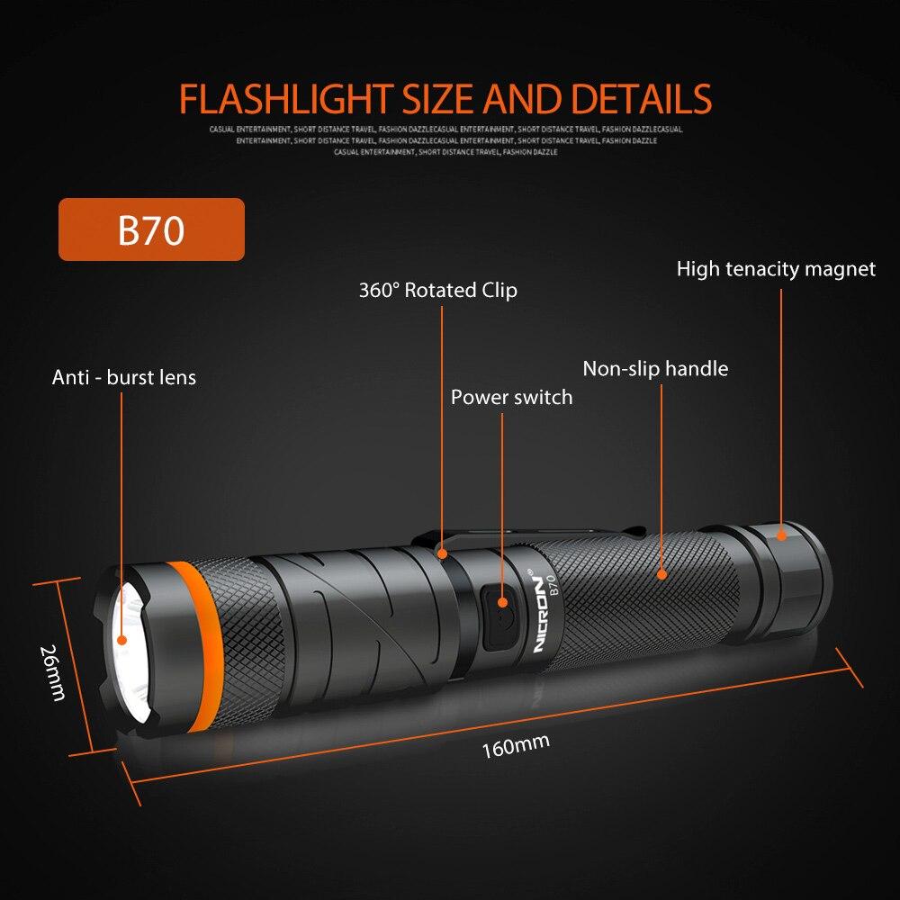 11 NICRON Flashlight