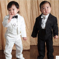 Free shipping,2016 New Five pieces clothing set Children tuxedo kids formal suit Baby Boys Blazers suits black white 1-3 Year