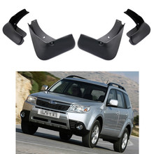 4PCS set Car Splash Guard Mud Flap Guard Fender For Forester 2009 2013