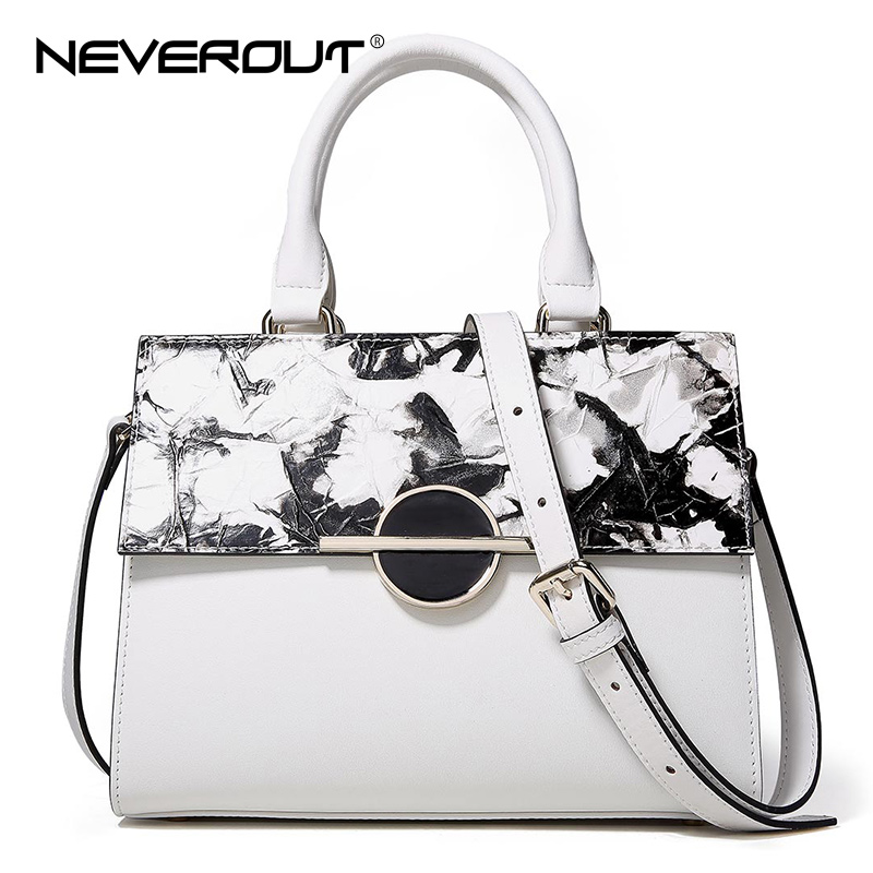 NeverOut High Quality Split Leather Handbags For Women Solid Tote Bags Top-Handle Shoulder Sac Brand Design Handbag Lady Bag sannen 7l double decker cooler lunch bags insulated solid thermal lunchbox food picnic bag cooler tote handbags for men women