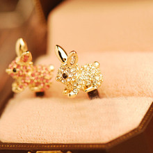 Cute Animal With Diamond Dustproof Plug Caps Cell Phone Accessories 3.5mm Earpho