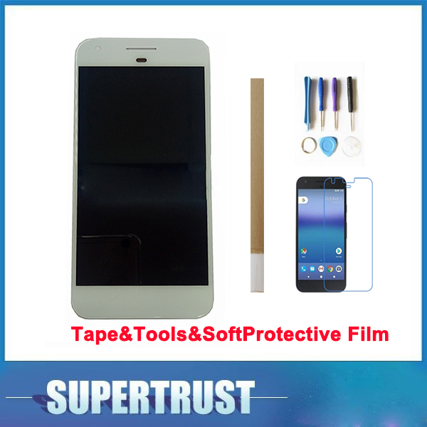 5.0 For HTC Nexus S1/For Google Pixel LCD Display+Touch Screen Assembly Black Color with tools&Tape&Soft Protective Film