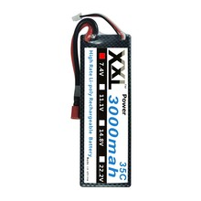 XXL Lipo battery 3000mah 7.4V 35C 2S with hard case for rc car truck boat Helicopter