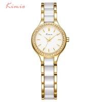Luxury Brand Imitation Ceramic Women Wristwatches Simple Rhinestone Dial Ladies Dress Quartz Watch Analog Clock Relogio