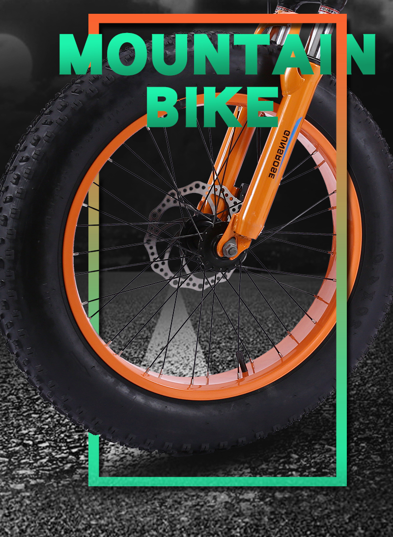 HTB1mw82SbrpK1RjSZTEq6AWAVXa4 KUBEEN mountain bike 21 speed 2.0 inch bicycle Road bike Fat Bike Mechanical Disc Brake Women and children bicycles