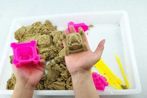 6 Pcs/Set Play Sand Outdoor Toys for Children Summer Seaside Beach toy Baby Building Sand Castle Mold Kids Model Tools Sets
