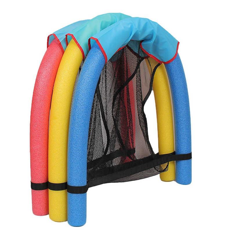 Cadeira de piscina Flutuante Água Cama Assento de Espuma Flutuante Vara de Malha Piscina Flutuante Suprimentos para Adultos Crianças Alunos