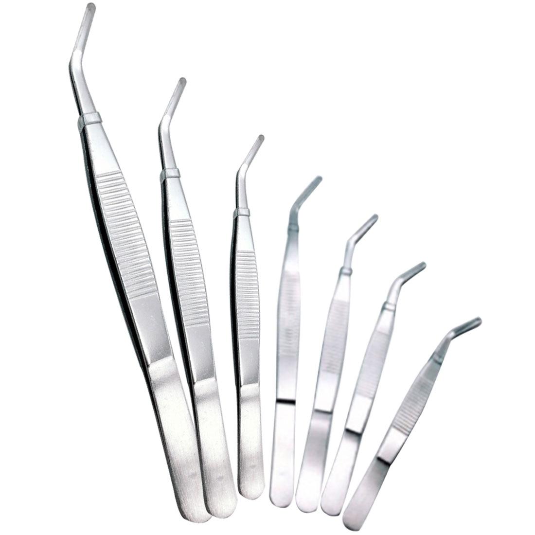 12,5-30 Cm Edelstahl Ellenbogen Medizinische Pinzette First Aid Kit Zubehör Chirurgie Pinzette Outdoor Ellenbogen Gerade Handwerkzeuge