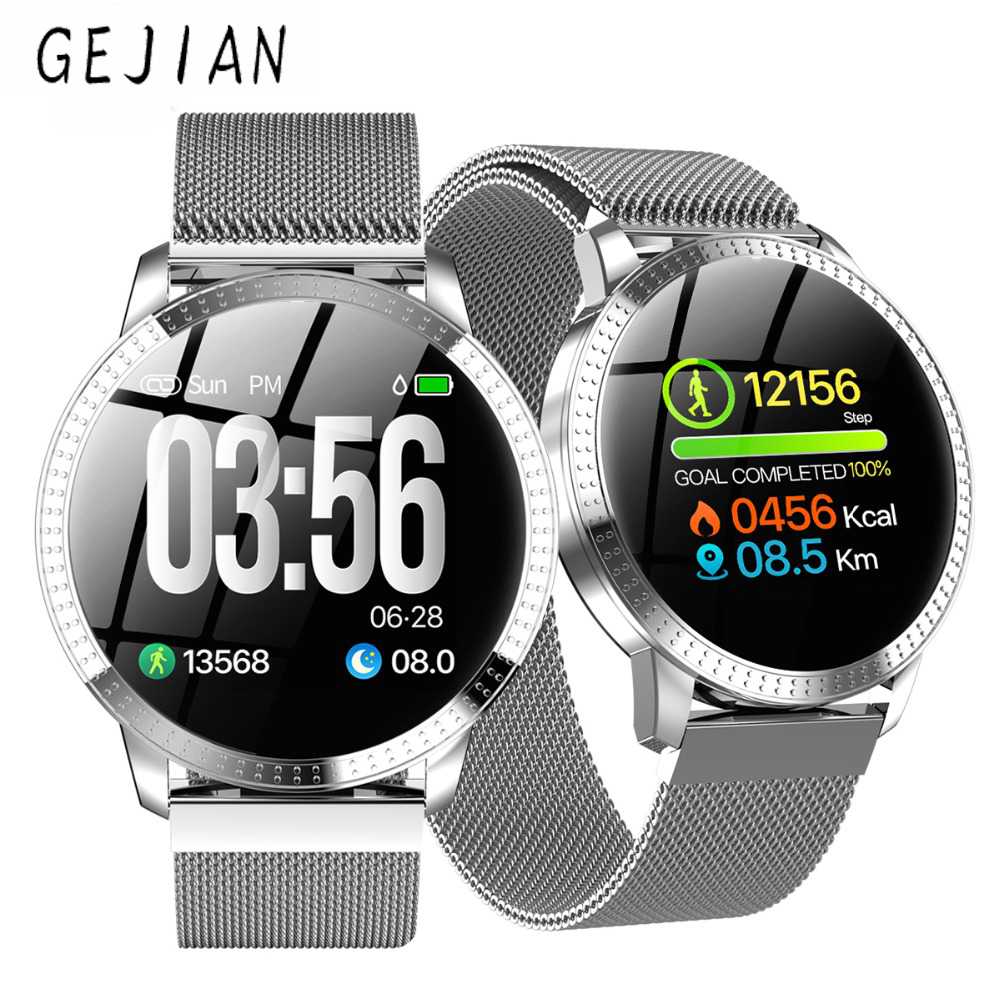 Connected-Watch All-Day-Proactive Bracelet Health-Monitor Time-Band Waterproof Plus GEJIAN