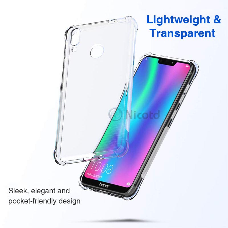 Full Protective Anti-knock Airbag Silicone Case for Huawei Honor 8C 8X Max 8C Note 10 Clear TPU Cover for Honor 9Lite 9i V9 Play (5)