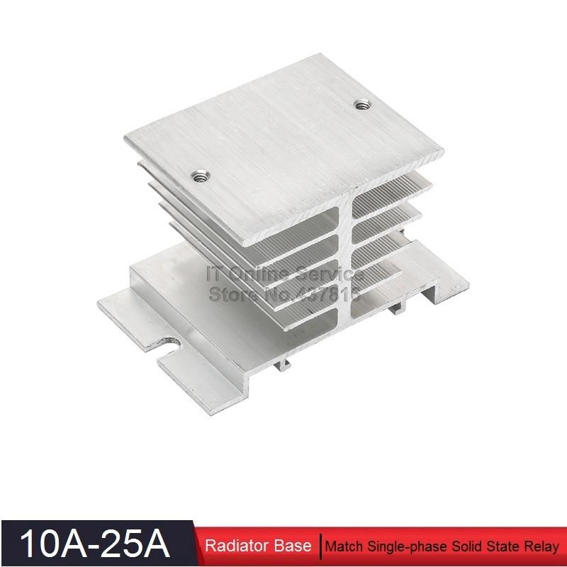 High Quality 10A-25A Solid State Relay Radiator Base SSR Heatsink Base 10A 20A 25A 1pcs free shipping ssr soild state relay radiator radiator fin other spare parts mini