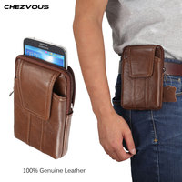 Genuine Leather Waist Bag For Iphone 8 7 6 6s 5 5s 4 Vintage Hip Bum