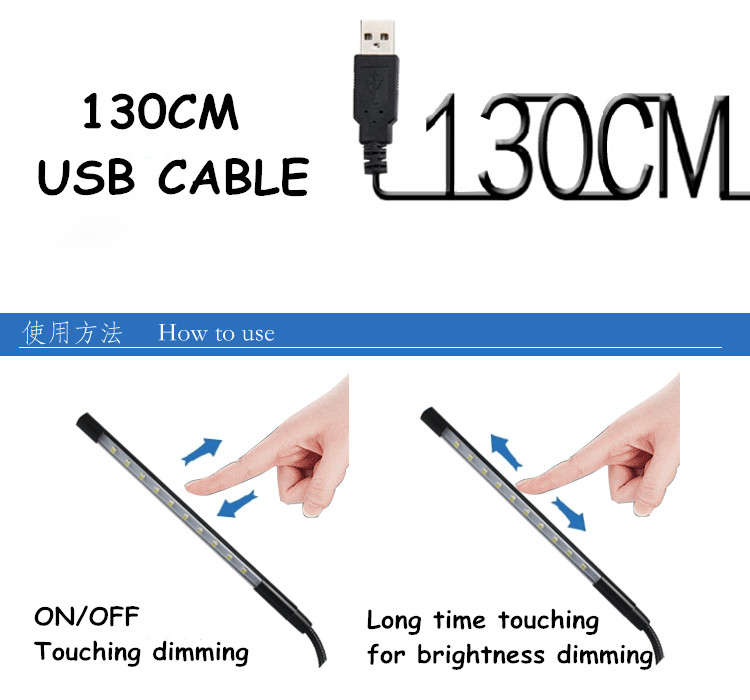 Touch Dimmable Flexible USB LED Augenpflege Leselampe Einstellbare - Innenbeleuchtung - Foto 5