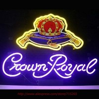 Crown Royal Neon Sign Ride Horse Neon Bulbs Led Signs Real Glass Tube Handcrafted Decorate Beer