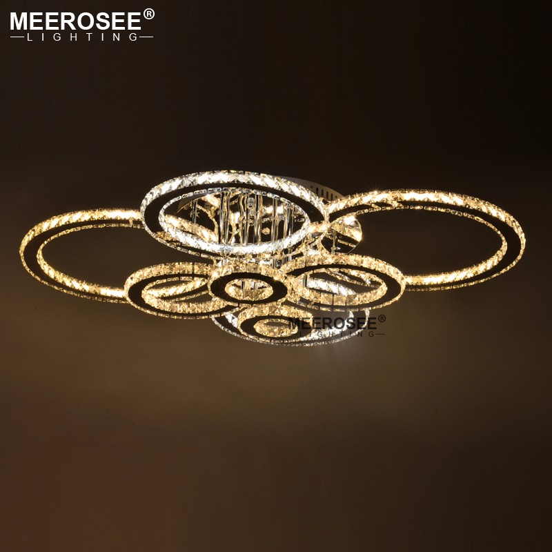 Good Quality Clear Ring LED Ceiling Lamp Crystals Flush Mounted living room lights lampara led techo Good Quality Clear Ring LED Ceiling Lamp Crystals Flush Mounted living room lights lampara led techo for Home Fast Shipping
