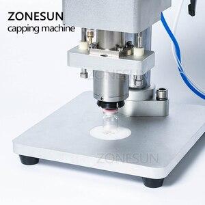 Image 3 - ZONESUN Pneumatic Oral Liquid Solution Penicillin Bottle Capper Aluminum Metal Plastic Vial Crimper Capping Machines