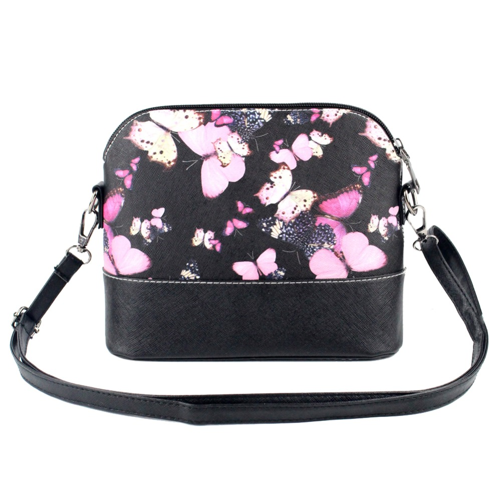 Butterfly Floral Printing Shell Bag Handbag Women Messenger Bags Fashion Small S