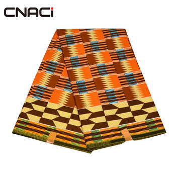 CNACI 2018 New African Fabric Ghana Kente 6 Yards Ghana Fabric African Fashion Kente Cloth Ghana Tissu Patchwork Free Shipping