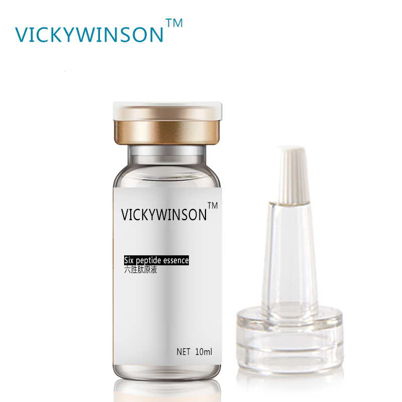 VICKYWINSON Six Peptide Hyaluronic Acid Essence Anti Aging Anti Wrinkle Lifting Concentrate 10ml