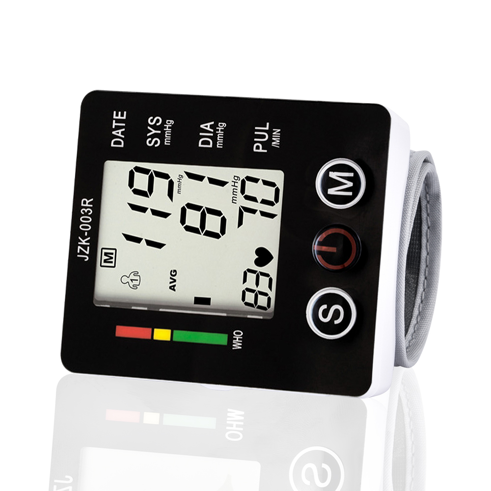 Automatische Handgelenk Blutdruck Monitor Digital LCD Blutdruckmessgerät Monitore Manschette Tonometer Herz Rate Meter Medizinische Maschine