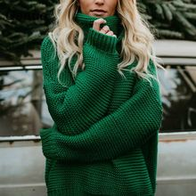 Coarse Pullover Women's Jumper Turtleneck Sweater Female Jumper Women Warm Sweater thick Winter Cable Knitted Oversized Sweater turtleneck ribbed jumper sweater