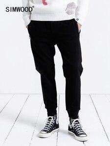 Image 1 - SIMWOOD pantalon de survêtement décontracté hommes 2019 nouveaux pantalons de survêtement hommes pantalons épais mode lâche Hip Hop Streetwear livraison gratuite 190086