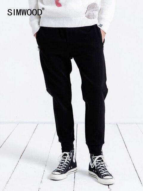 Simwood 캐주얼 트레이닝 복 남성 2019 new jogger pants 남성 바지 두꺼운 패션 루스 힙합 streetwear 무료 배송 190086