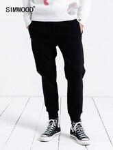 Simwood casual sweatpants men 2019 nova jogger calças masculinas grossas moda solta hip hop streetwear frete grátis 190086