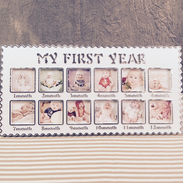 Creative Cute New My First Year Baby Newborn Abs Acrylic 12 Months