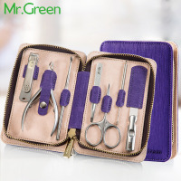 MR.GREEN Stainless steel peeling plier set finger cut ershao finger file tweezer eyebrow scissors