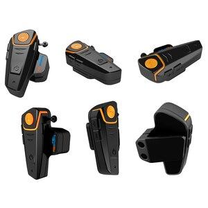 Image 3 - Fodsports BT S2 Pro Moto rcycle Mũ bảo hiểm tai nghe liên lạc nội bộ Moto bluetooth không dây chống nước interphone bằng FM mềm Micro
