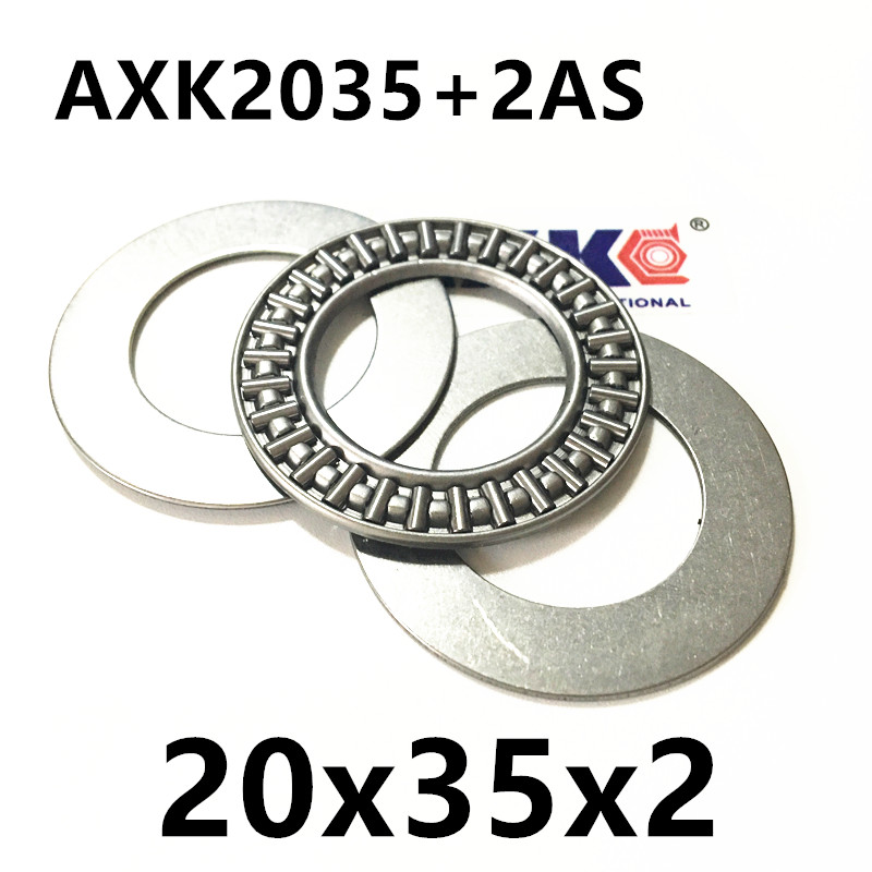 AXK2035 Thrust Needle Roller Bearing 20x35x2 Thrust Bearings for 20mm shaft nk38 20 bearing 38 48 20 mm 1 pc solid collar needle roller bearings without inner ring nk38 20 nk3820 bearing