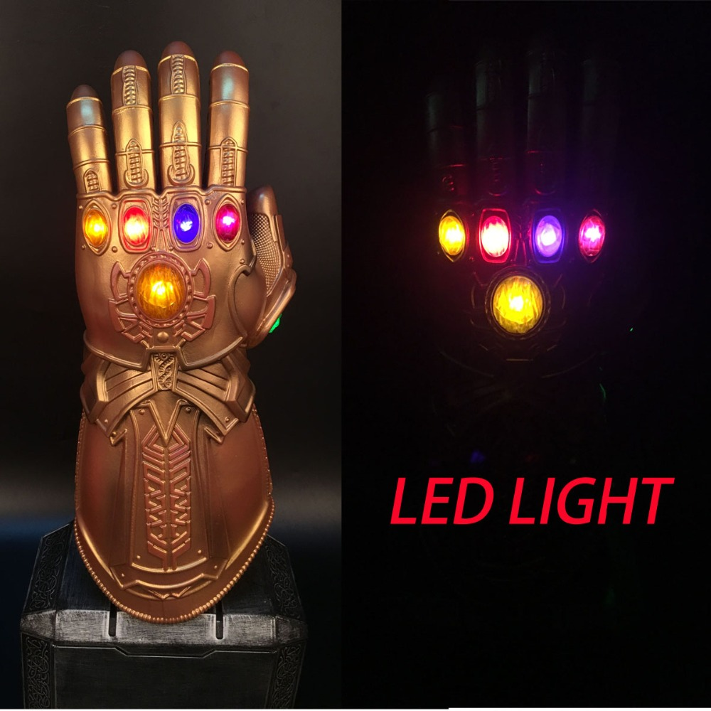 Avengers Infinity War Infinity Gauntlet LED Light Thanos LED Gloves Cosplay Prop